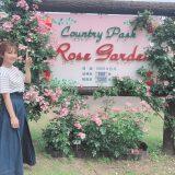 晴れて良かった☀️薔薇園🌹