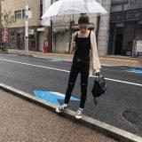 毎週更新している私服さん🖤大雨の日コーデ🐒