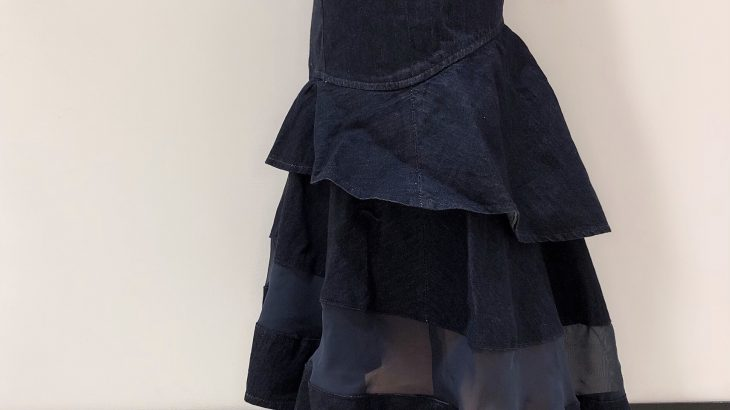 異素材MIXが可愛いマーメイドスカート