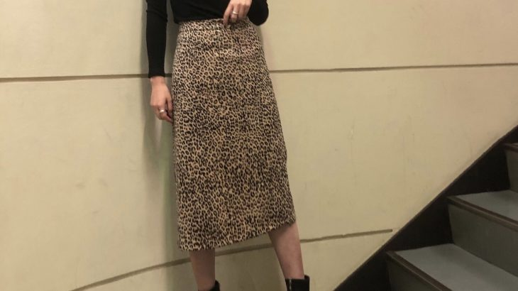 カジュアルなレオパード柄もスリットスカートで上品に❤︎
