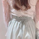 スカート見えのワイドパンツが気持ちイイ😚❤️